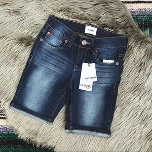 [Hudson] kids stretch Bermuda jean shorts size 8